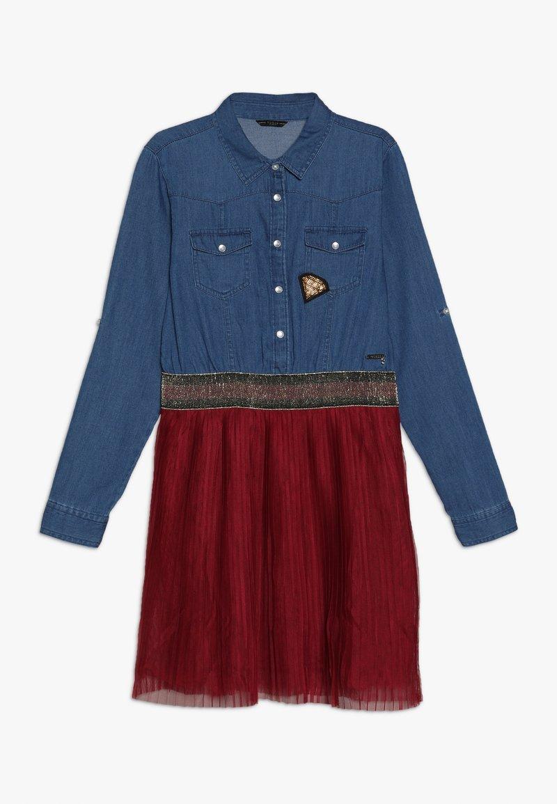 Guess - JUNIOR SLEEVE DRESS - Jeansklänning - light blue denim