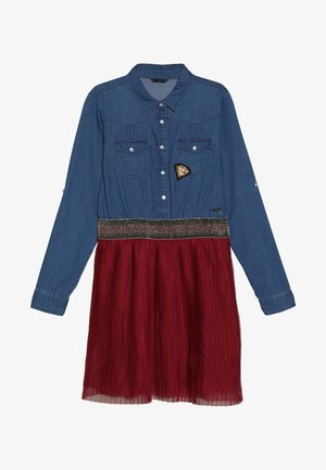 JUNIOR SLEEVE DRESS - Farkkumekko - light blue denim