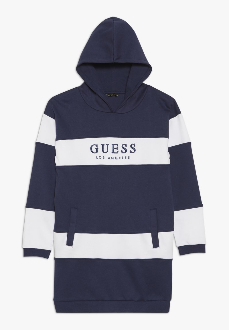 Guess - JUNIOR FRENCH HOODED DRESS - Korte jurk - blue/white