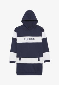 Guess - JUNIOR FRENCH HOODED DRESS - Korte jurk - blue/white - 2