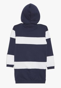 Guess - JUNIOR FRENCH HOODED DRESS - Korte jurk - blue/white - 1
