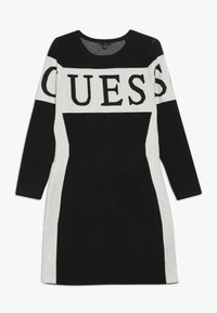 Guess - JUNIOR DRESS - Strikket kjole - jet black - 0