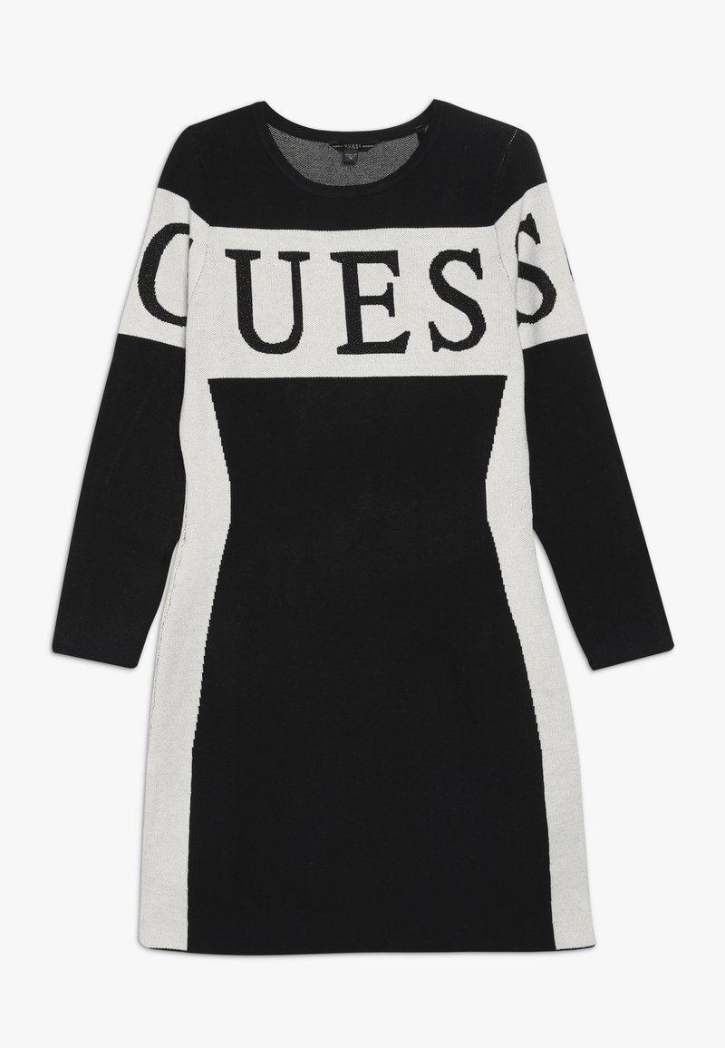 Guess - JUNIOR DRESS - Strikket kjole - jet black
