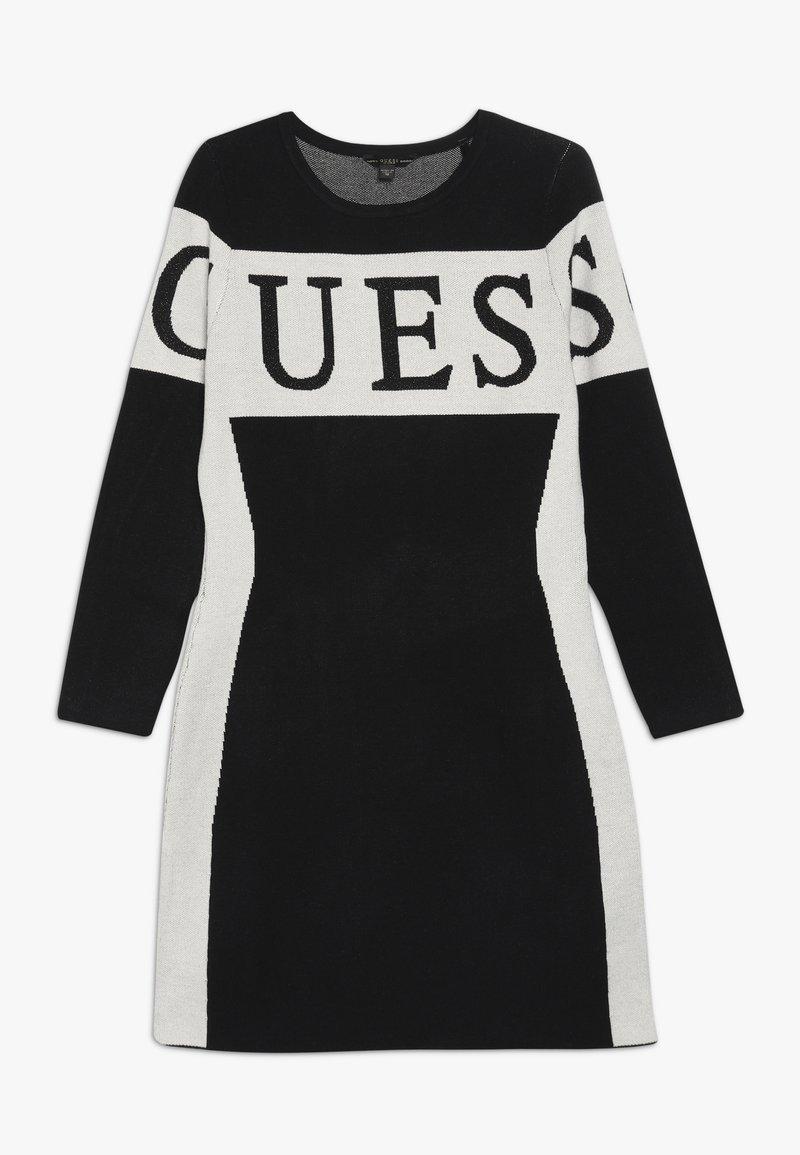 Guess - JUNIOR DRESS - Pletené šaty - jet black