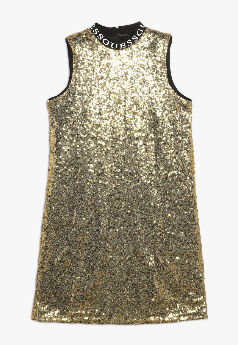 Guess - JUNIOR FULL SEQUINS DRESS - Vestido de cóctel - metallicgold