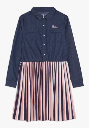 JUNIOR SLEEVE DRESS - Robe en jean - storm dark blue
