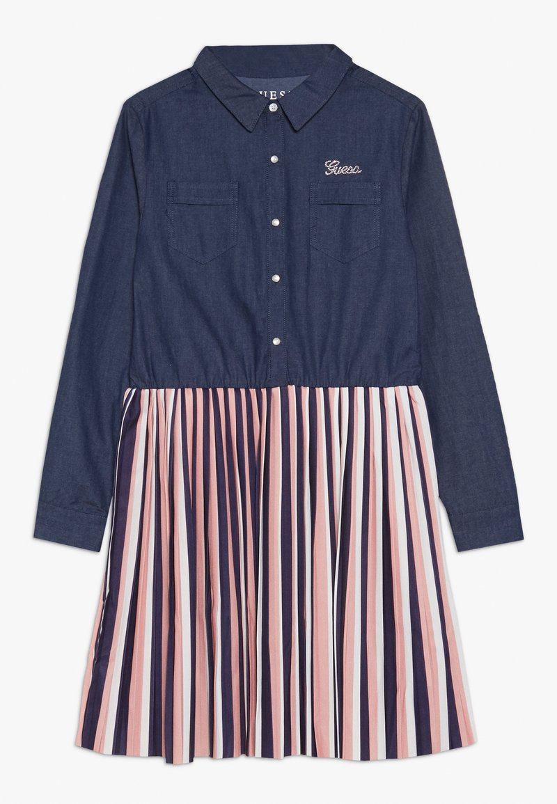 Guess - JUNIOR SLEEVE DRESS - Denim dress - storm dark blue