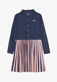Guess - JUNIOR SLEEVE DRESS - Denim dress - storm dark blue - 3