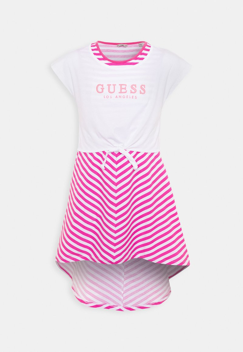 Guess - DRESS - Sukienka z dżerseju - pink/white