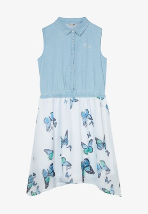 JUNIOR MIXED FABRIC DRESS - Jeanskleid - light blue
