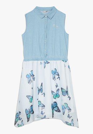JUNIOR MIXED FABRIC DRESS - Denimové šaty - light blue
