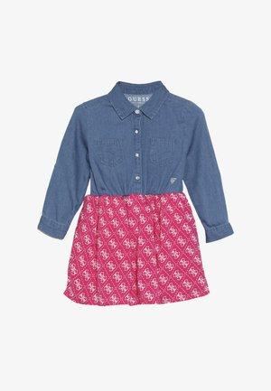 TODDLER SLEEVES DRESS - Robe en jean - vintage dark blue