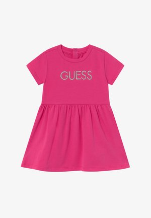 DRESS BABY - Robe en jersey - rouge/shocking pink