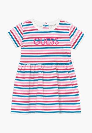 DRESS BABY - Žerzejové šaty - rainbow stripe red