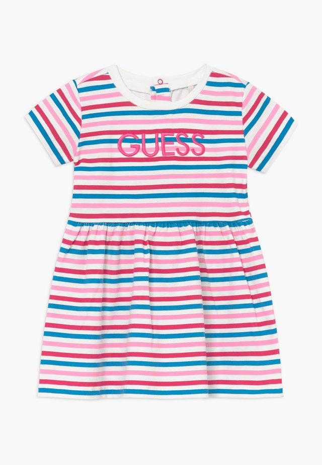 DRESS BABY - Jerseyjurk - rainbow stripe red