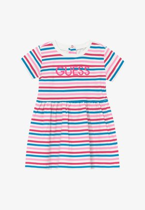 DRESS BABY - Žerzejové šaty - rainbow stripe red