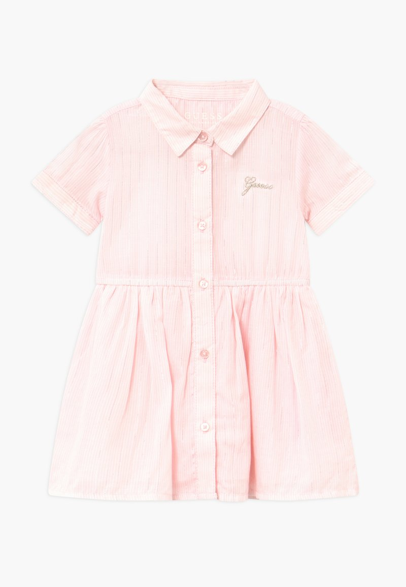 Guess - STRIPED BABY - Robe chemise - pink/white