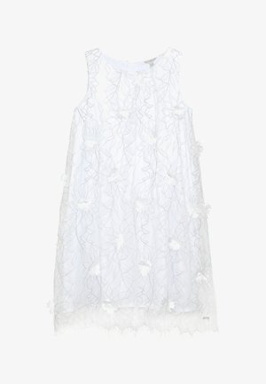JUNIOR EMBROIDERED DRESS - Cocktail dress / Party dress - black/white