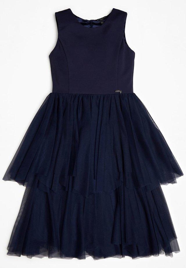 GUESS KLEID MIT EINSATZ AUS TÜLL - Korte jurk - blau