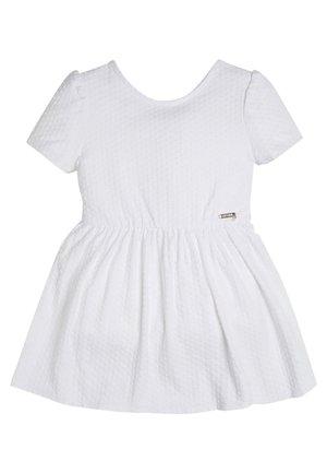 KLEID JACQUARD - Jerseykleid - weiß