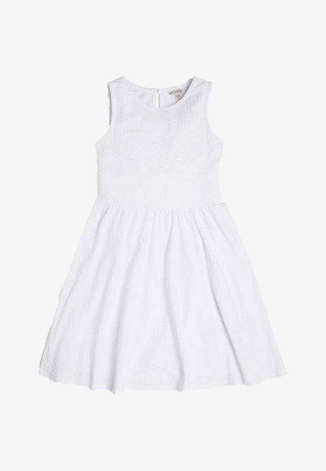 JACQUARD KLEID - Korte jurk - weiß