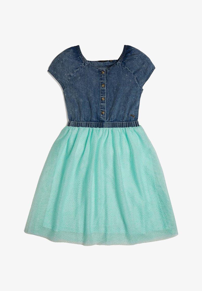 Guess - GUESS KLEID GLITTER - Day dress - blau