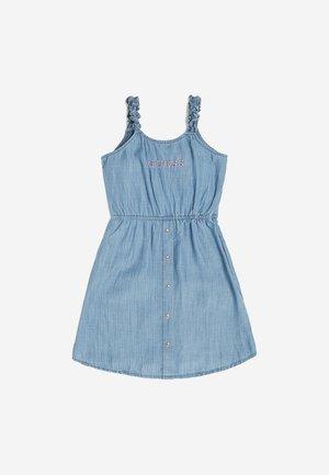 KLEID INDIGO - Robe en jean - mehrfarbig, grundton blau