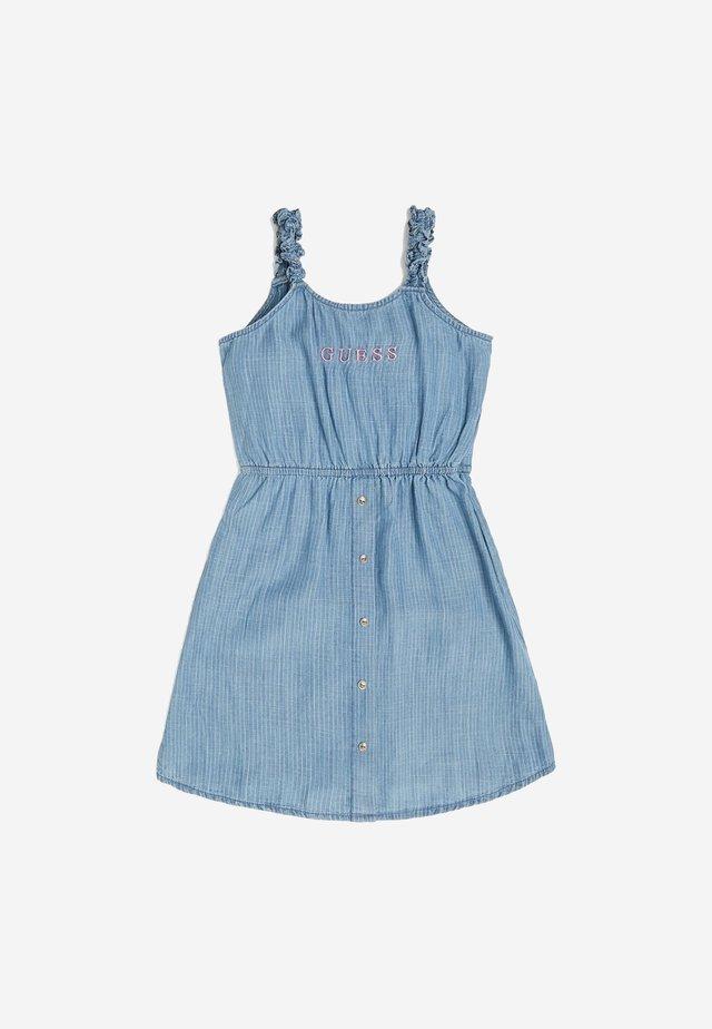 KLEID INDIGO - Jeanskleid - mehrfarbig, grundton blau