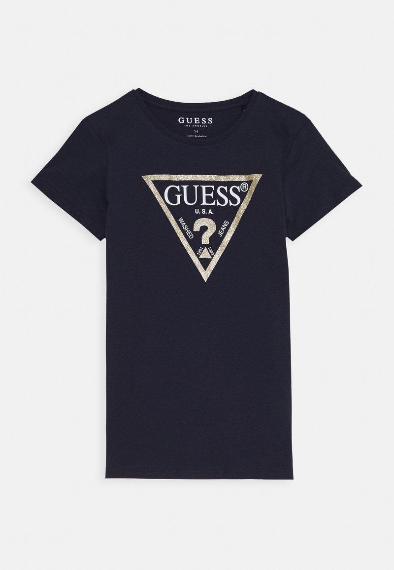 Guess - JUNIOR CORE - T-shirt z nadrukiem - dark blue