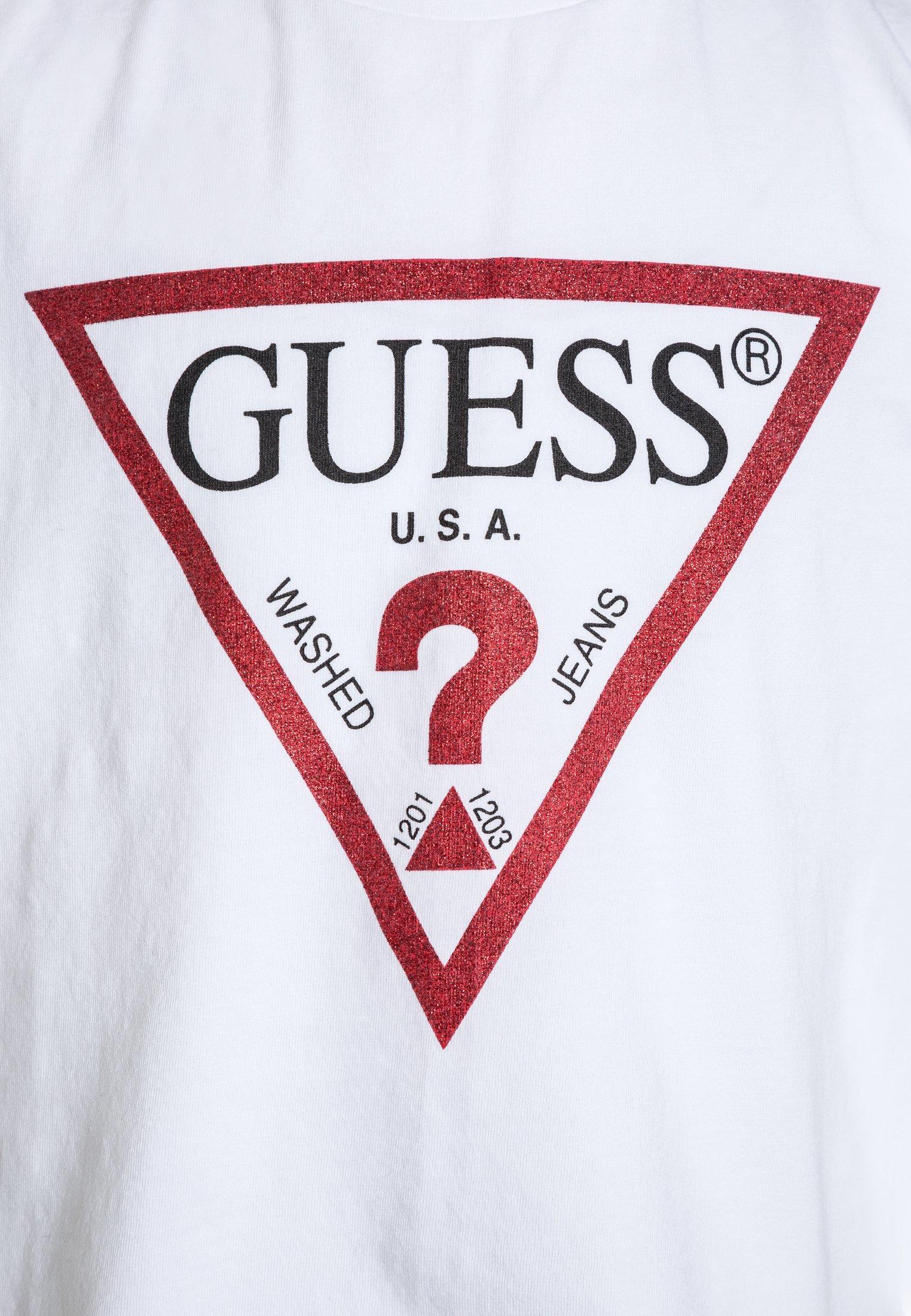Guess JUNIOR CROPPED CORE T shirt imprimé blanctrue
