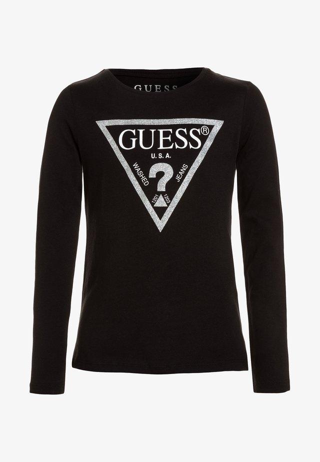 Bluzka z długim rękawem - jet black/frost