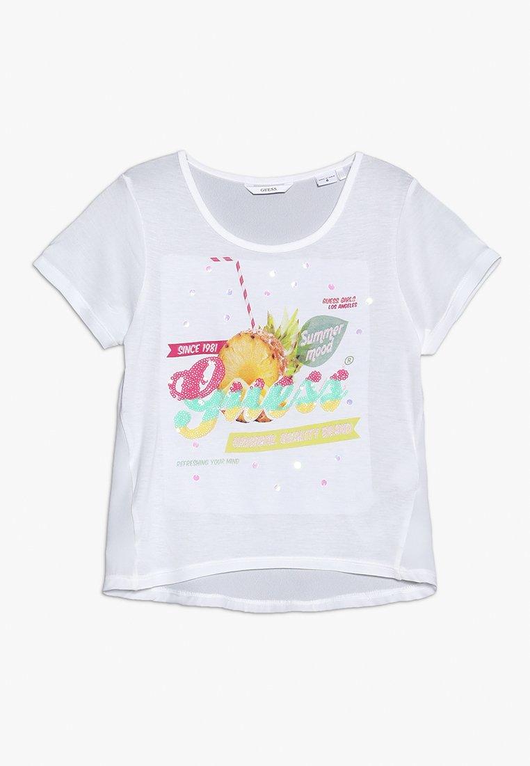 Guess - T-shirt z nadrukiem - true white