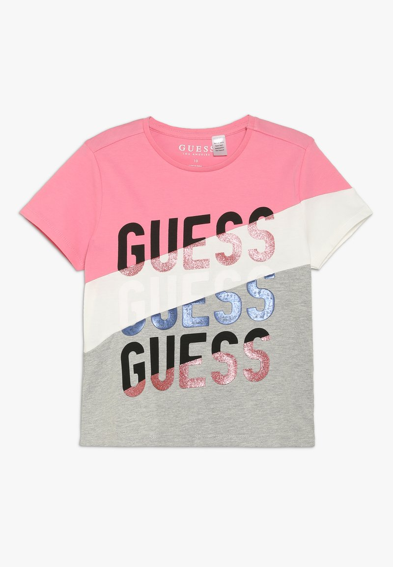 Guess - JUNIOR - T-Shirt print - pink/grey melange
