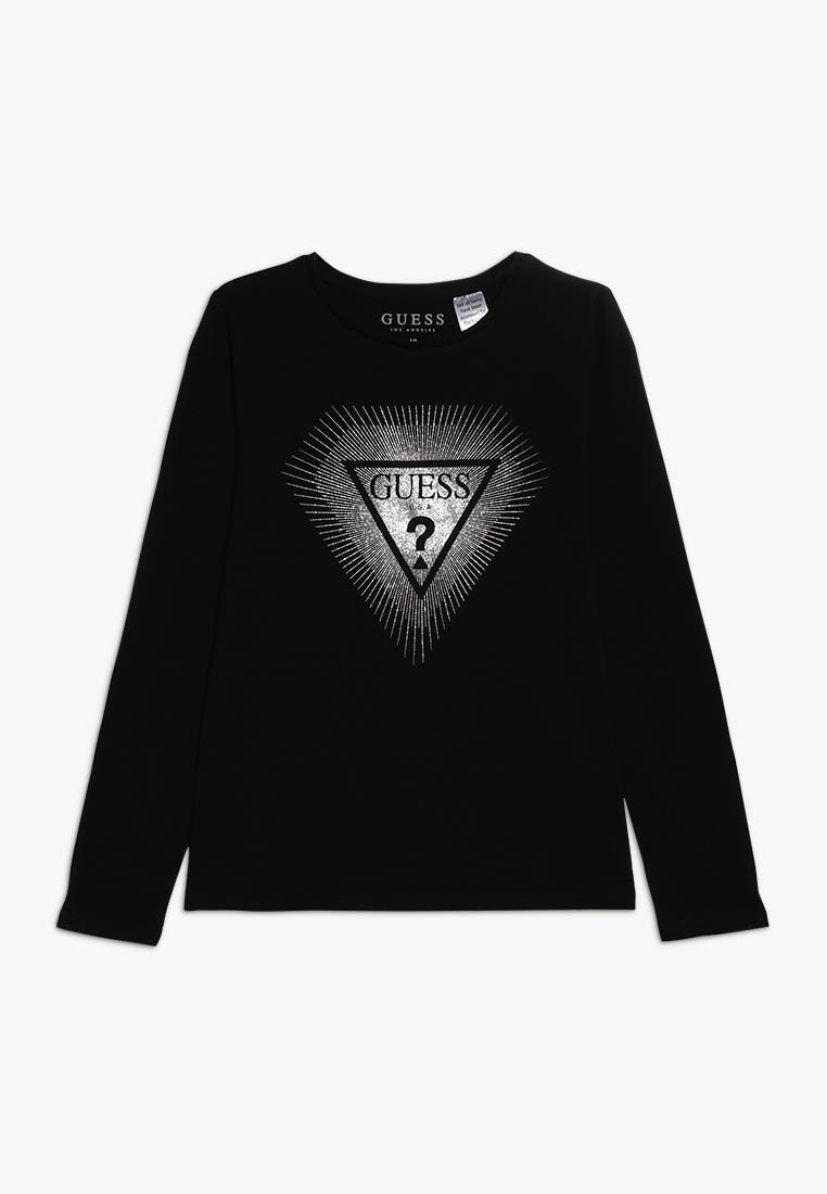 Guess - JUNIOR - Long sleeved top - jet black