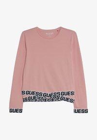 Guess - JUNIOR LOGO - Bluzka z długim rękawem - slip pink - 2