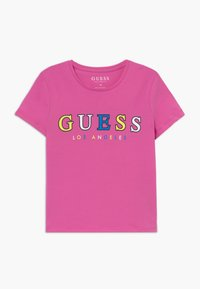 Guess - JUNIOR MIDI - Triko s potiskem - candy orchid - 0