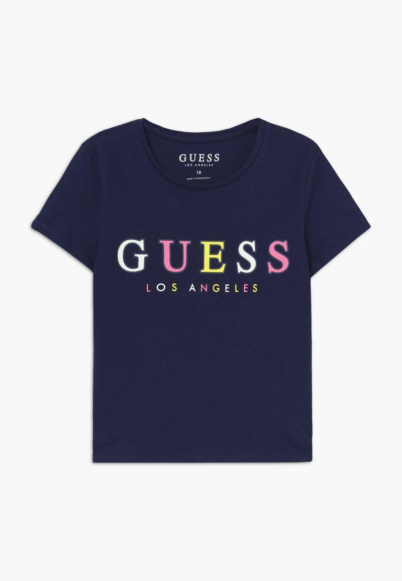 Guess - JUNIOR MIDI - T-shirt imprimé - deck blue