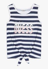 Guess - STRIPES - Débardeur - white and blue strip - 0
