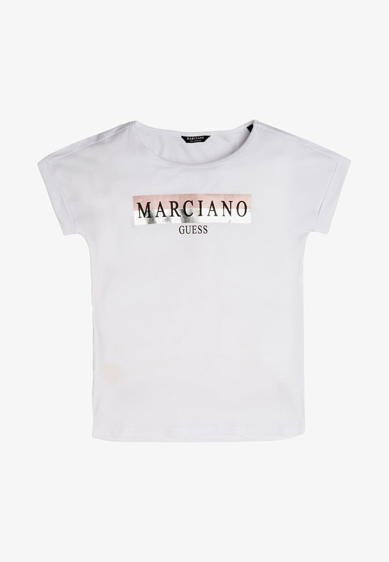 Guess - MARCIANO - T-shirt z nadrukiem - white