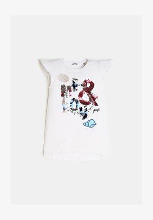 T-SHIRT SEQUINS - T-shirt imprimé - white