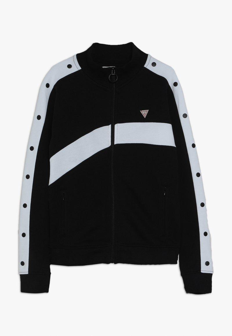Guess - JUNIOR EXCLUSIVE ACTIVEWEAR - Zip-up hoodie - jet black