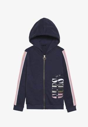 JUNIOR HOODED ACTIVE ZIP - veste en sweat zippée - deck blue