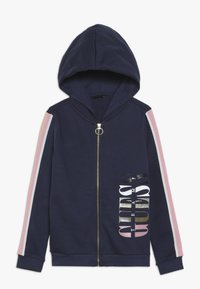 Guess - JUNIOR HOODED ACTIVE ZIP - Zip-up hoodie - deck blue - 0