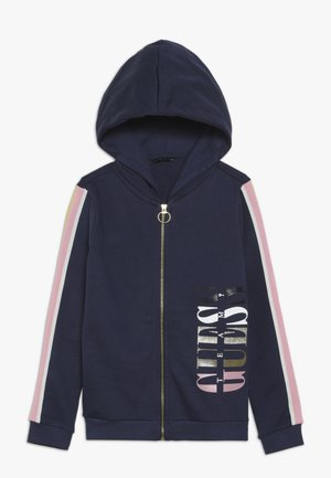 JUNIOR HOODED ACTIVE ZIP - Bluza rozpinana - deck blue