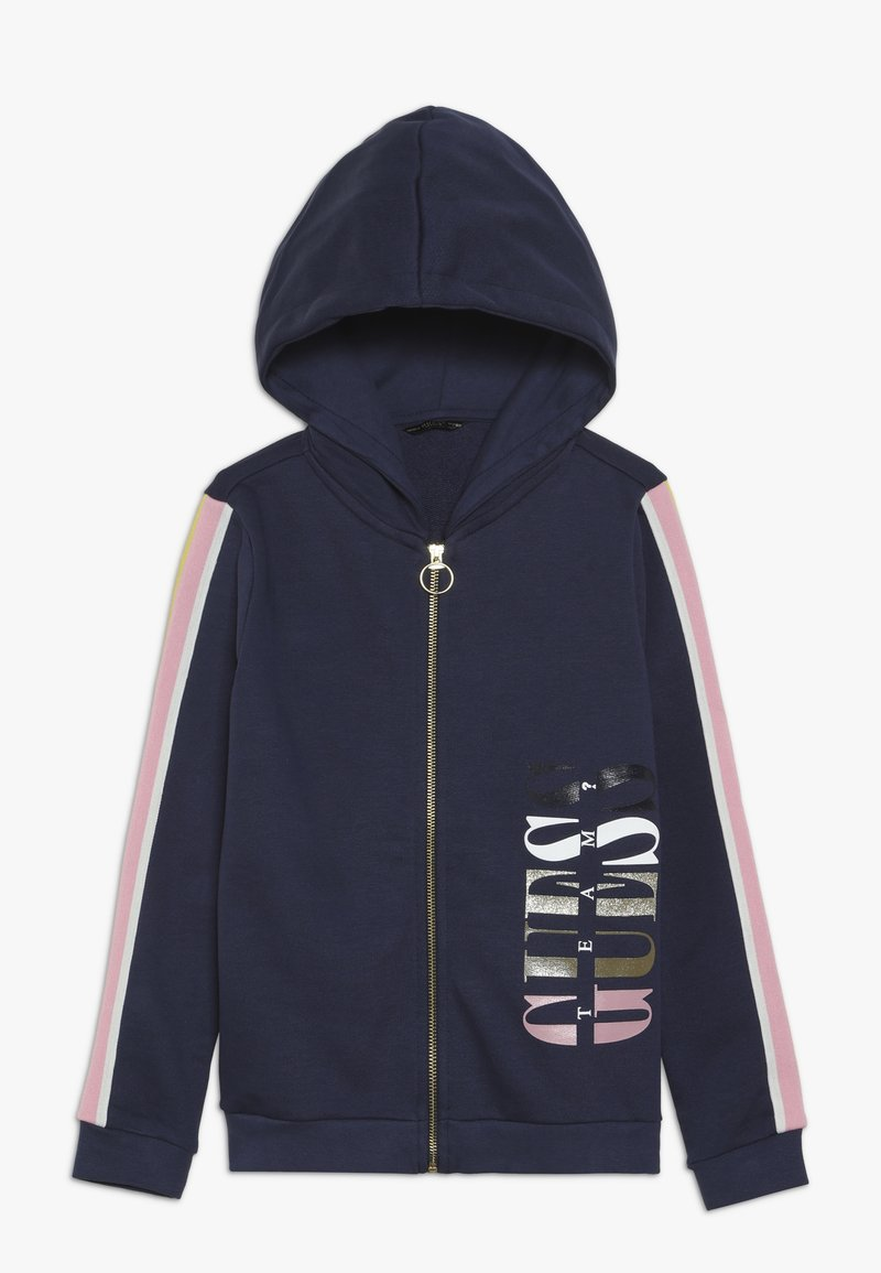 Guess - JUNIOR HOODED ACTIVE ZIP - Zip-up hoodie - deck blue