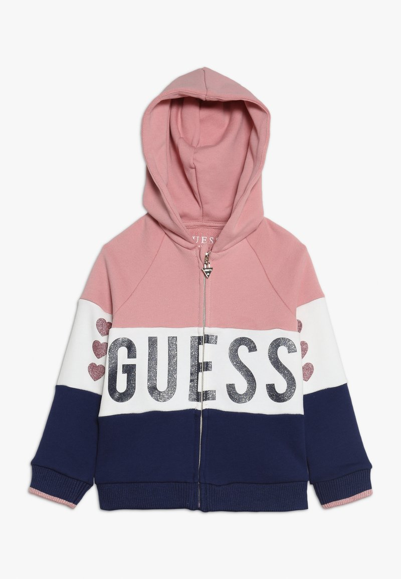 Guess - TODDLER HOODED ACTIVE ZIP - Sweatjacke - pink/blue