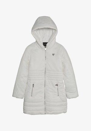 JUNIOR PADDED HOODED LONG JACKET - Zimní kabát - white clay