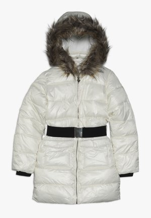 JUNIOR SHINY PADDED HOODED JACKET - Płaszcz zimowy - white clay