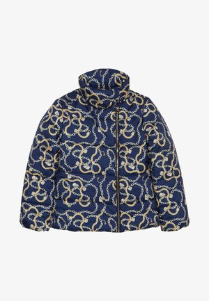 JUNIOR PADDED SLIM JACKET - Winter jacket - dark blue/gold