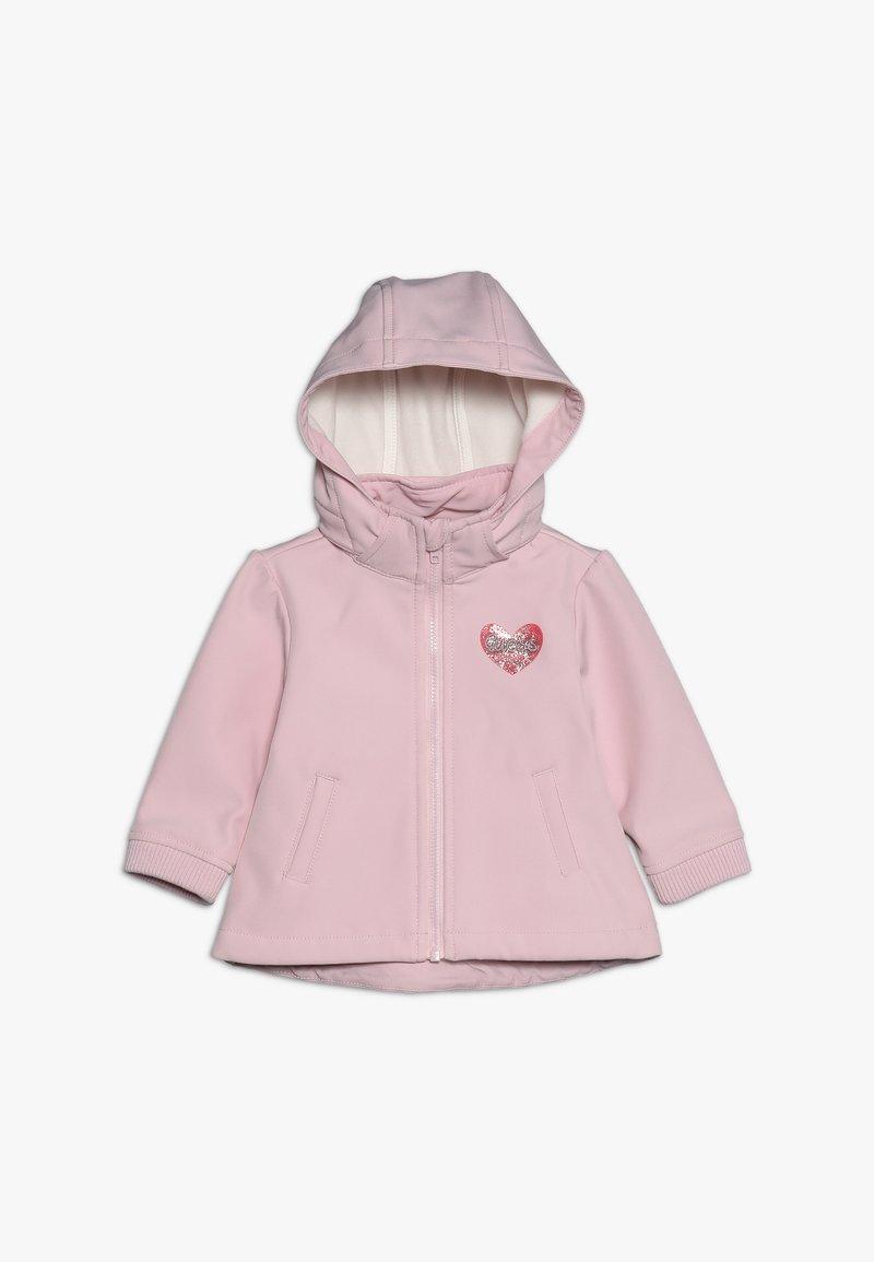 Guess - DETACHABLE HOOD JACKET BABY - Kurtka przejściowa - alabaster pink